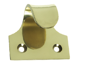 Prima Curled Sash Window Lift (50mm x 44mm), Polished Brass - PB130