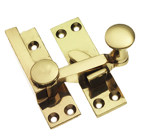 Prima Quadrant Sash Window Fastener (67mm), Polished Brass - PB133