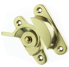 Prima Fitch Window Fastener (70mm x 25mm), Polished Brass - PB134
