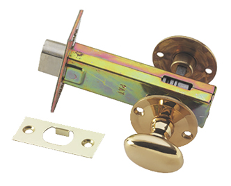 Prima Complete Oval Turn & Release With Mortice Deadbolt, Polished Brass - PB1355