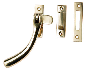 Prima 'Pear Drop' Bulb End Casement Fastener For Weatherstripped Windows, Polished Brass - PB1400