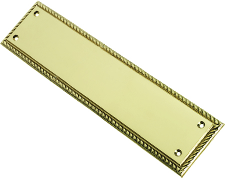 Prima Georgian Cast Finger Plate (305mm x 73mm), Polished Brass - PB142B