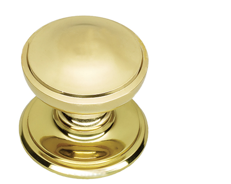 Prima Princess Centre Door Knob, Polished Brass - PB16