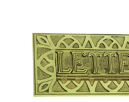 Prima 'Letters' Embossed Letter Plate (241mm x 114mm), Polished Brass - PB178