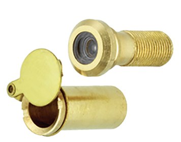 Prima 160 Degree Door Viewer With Cover, Polished Brass - PB199