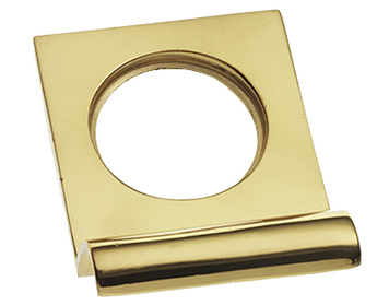 Prima Square Top Cylinder Pull (48mm x 67mm), Polished Brass - PB237
