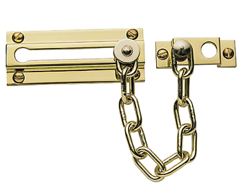 Prima Security Door Chain (86mm), Polished Brass - PB40A
