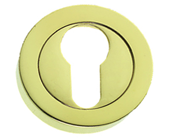 Prima 'Euro Profile' Escutcheon, Polished Brass - PB591