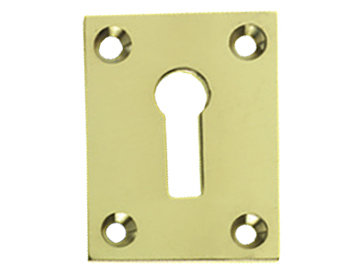 Prima Square Edge Standard Profile Escutcheon, Polished Brass - PB601