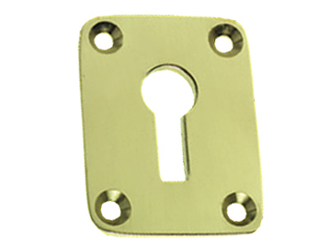 Prima Radiused Edge Standard Profile Escutcheon, Polished Brass - PB603