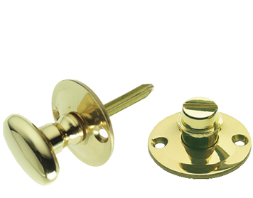 Prima Oval 38mm Diameter Turn & Release Security Key (Hex/Rack), Polished Brass - PB661
