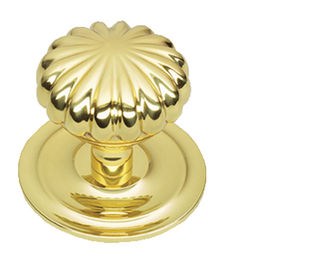 Prima Peel Centre Door Knob, Polished Brass - PB668