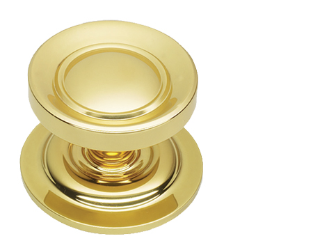 Prima Victorian Centre Door Knob, Polished Brass - PB669