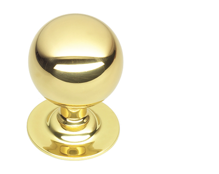 Prima Ball Centre Door Knob, Polished Brass - PB671
