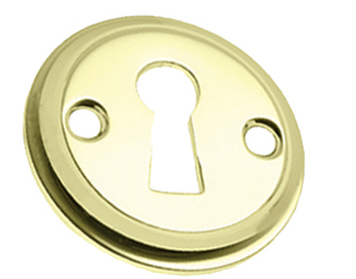Prima 'Tudor' Open Escutcheon, Polished Brass - PB688