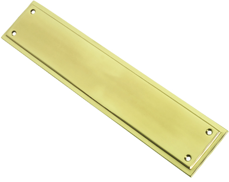 Prima Tudor Finger Plate, Polished Brass - PB695