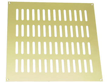 Prima Plain Slotted Vent (Various Sizes), Polished Brass - PB860