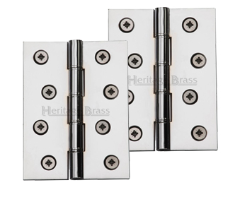 Heritage Brass 4 Inch Double Phosphor Washered Butt Hinges, Polished Chrome    PR88 410
