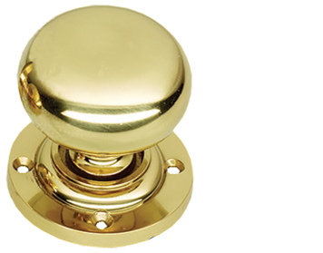 Prima Mushroom Mortice Door Knobs (Half-Spung & Unsprung), Polished Brass - PB92B