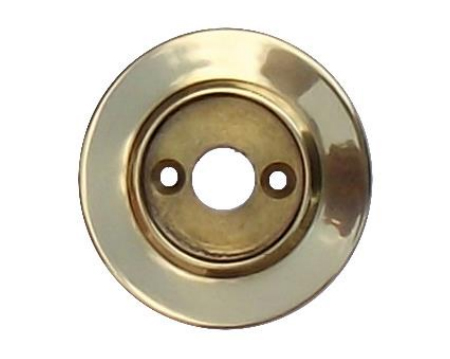 Alternative Backplate Option For Porcelain Mortice Door Knobs - Polished Brass - PBBUL33 (sold in pairs)