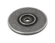 Finesse Lipped Backing Plate (38mm Diameter), Pewter - PBP008