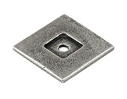 Finesse Square Backing Plate (30mm x 30mm), Pewter - PBP013
