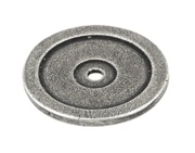 Finesse Flat Ringed Backing Plate (40mm Diameter) Pewter - PBP014