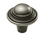 Finesse Hadden 2-Part Cabinet Knob (40mm Diameter), Pewter - PCK011