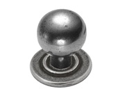 Finesse Ball Cabinet Knob (25mm Diameter), Pewter - PCK012
