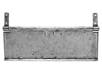 'LETTER TIDY', 300MM X 100MM, PEWTER FINISH - PE55