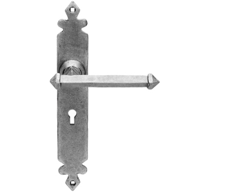Carlisle Brass Ludlow Foundries Tudor Door Handles, Pewter - PE550 (sold in pairs)
