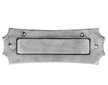 'LETTER PLATE', 280MM X 100MM, PEWTER FINISH - PE5524