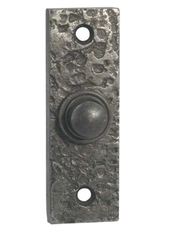 Frelan Bell Push (76mm x 25mm, Pewter Effect - PEW118 None