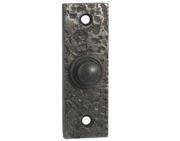 XL35 Antique Brass Plain Rectangular Victorian style Door Bell Push Switch