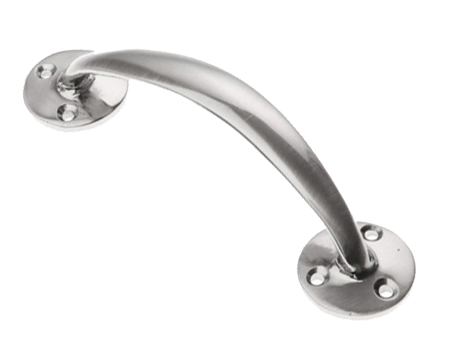 Prima Cranked Bow Pull Handles (152mm Or 190mm), Pewter Finish - PF112
