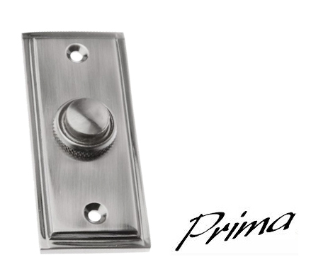 'Stepped' Bell Push, Pewter Finish - PF183 None