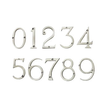Prima Pewter Finish 'Screw Fix' Numerals (0 - 9) - PF217