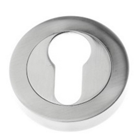 Euro Profile Open Escutcheon, Pewter Finish - PF591
