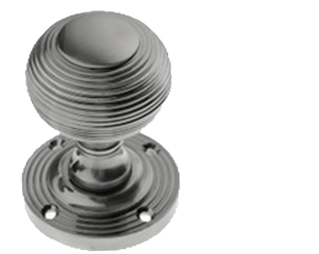 Prima 'Reeded' Mortice Knob, Pewter Finish - PF96