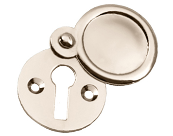 Prima 'Victorian' Round Standard Profile Covered Escutcheon, Polished Nickel - PN103