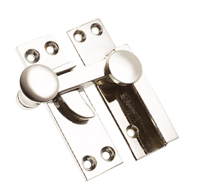 Prima Quadrant Sash Window Fastener (67mm), Polished Nickel - PN133