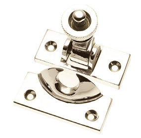Prima Brighton Sash Window Fastener (57mm x 25mm), Polished Nickel - PN135