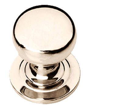 Prima Victorian Solid Cupboard Knob (25mm, 32mm Or 38mm), Polished Nickel - PN140