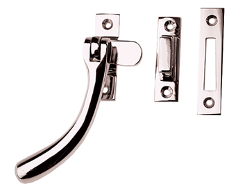 Prima 'Pear Drop' Bulb End Casement Fastener For Weatherstripped Windows, Polished Nickel - PN1400