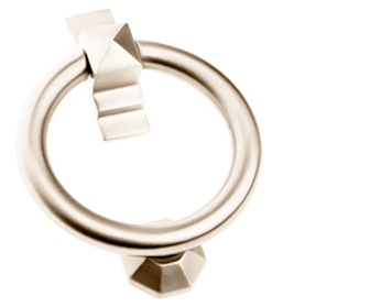 'Ring' Door Knocker, Polished Nickel - PN779