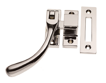 Prima 'Pear Drop' Reversible Casement Fastener, Polished Nickel - PN879
