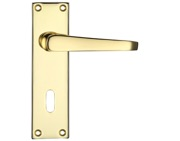 Zoo Hardware Project Range Victorian Flat Door Handles On Backplate, Electro Brass - PR041EB (sold in pairs)