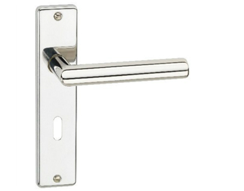 Urfic 'Portabella' Handles On Backplate, Polished Nickel - 1530-5215-04LA (sold in pairs)