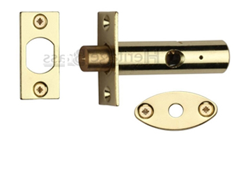 Heritage Brass Hex/Rack Bolt Without Turn, Polished Brass - RB7-PB