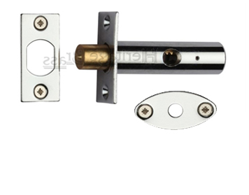Heritage Brass Hex/Rack Bolt Without Turn, Polished Chrome - RB7-PC